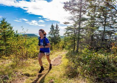 2018 Superior 100 Mile Trail Race Champion Mallory Richard at Split Rock - Photo Credit Tone Coughlin