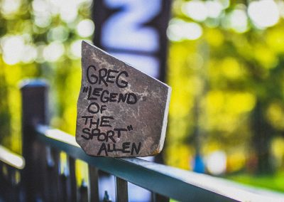 A Special Award for Greg Legend of The Sport Allen - Photo Credit David Markman