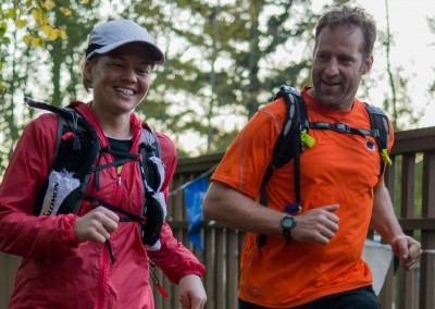 Amy Finishes with Husband and Multi Time Finisher Jason  - Photo Credit Zach Pierce
