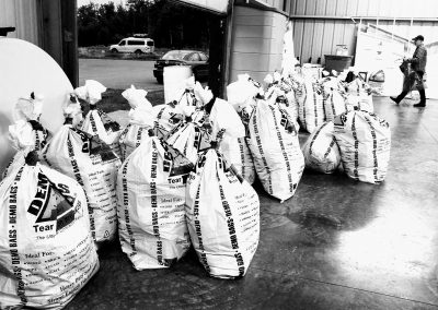 Bags of Drop Bags - Photo Credit John Storkamp