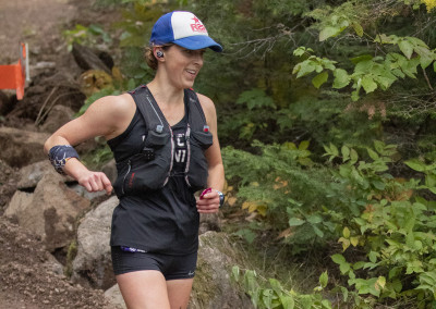 Colleen Macdonald for the 50 Mile Win in 2019 - Photo Credit Dan LaPlante