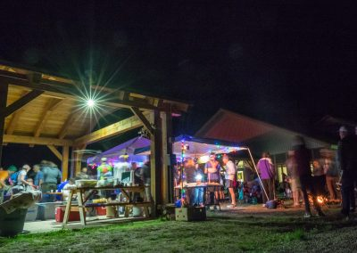 Finland Aid Station at Night - Photo Credit Kent Keeler