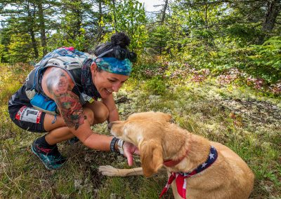 Heidi Gets a Quick Dog Fix - Photo Credit Tone Coughlin
