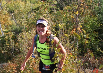 Kristina Folcik Enroute to Her 100 Mile Victory in 2012  - Photo Credit Eric Forseth