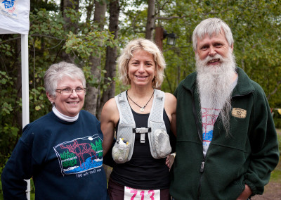 Susan Donnelly With Former Race Directors Larry and Colleen Pederson - Photo Credit Zach Pierce