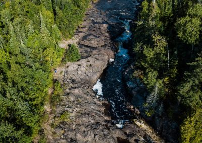 Temperance River From Above - Photo Credit Fresh Tracks Media