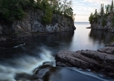 Temperance River and Lake Superior Photo Credit - Londell Pease