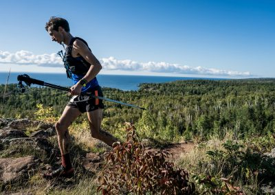 Travis On The Move Above Lake Superior - Photo Credit Ian Corless